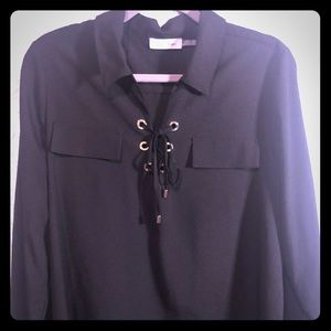 Calvin Klein Black & Gold Blouse